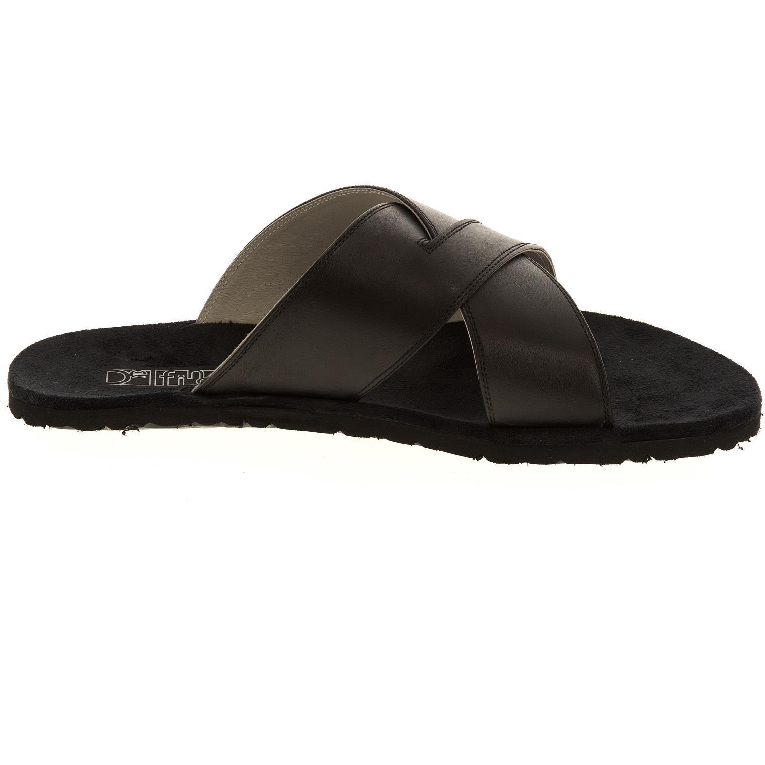 577157 сандалии мужские черные больших размеров марки Делфино