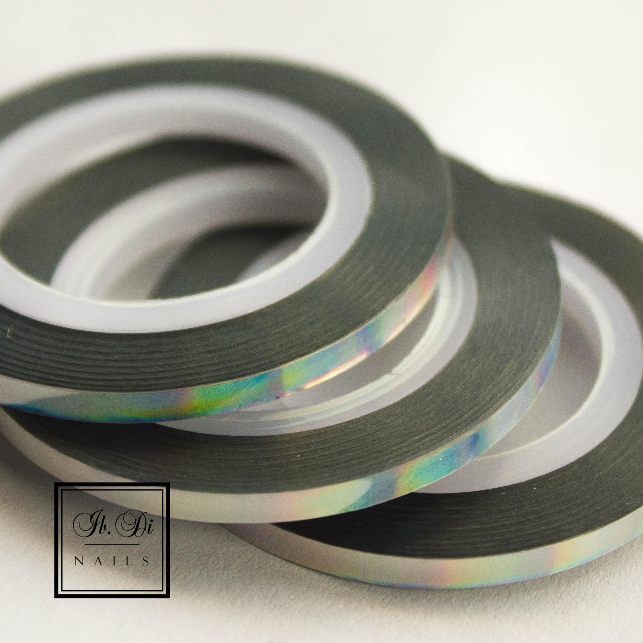 Лента самоклеющаяся серебро голография 3мм