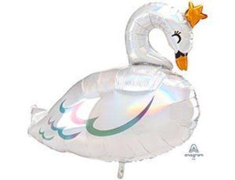 Фольгированный шар Лебедь переливы