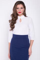 <p><span>Классическая романтическая блузка в позитивных расцветках. Ворот - стойка с рюшей, рукав 3/4 на резинке.</span></p>