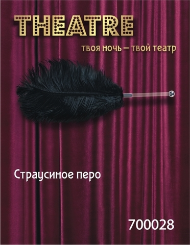 Чёрное страусовое пёрышко