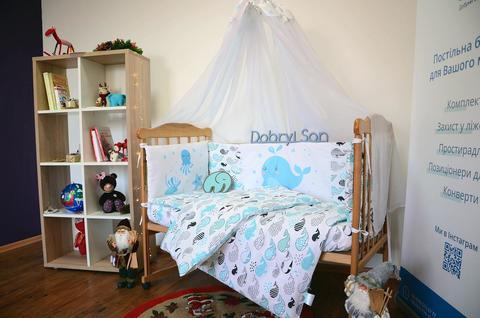 Комплект постельного белья для новорожденных с защитой-бортиками Леко Кит