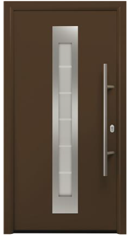 Дверь входная Hormann RenoDoor Plus RAL 8028 (коричневый)