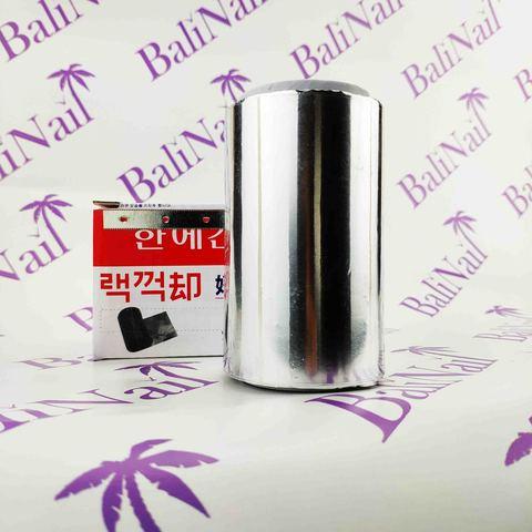 Фольга толстая алюминевая, с отрывным ножом 30 мкр, 10 см * 30 м
