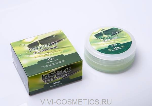 Питательный крем с алоэ | DEOPROCE NATURAL SKIN ALOE NOURISHING CREAM (100g)