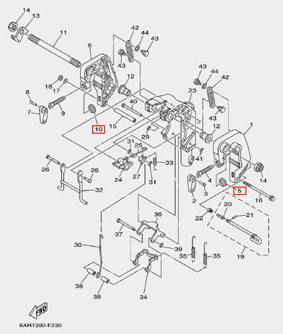 Площадка зажима струбцины для лодочного мотора F20 Sea-PRO (19-5-10)