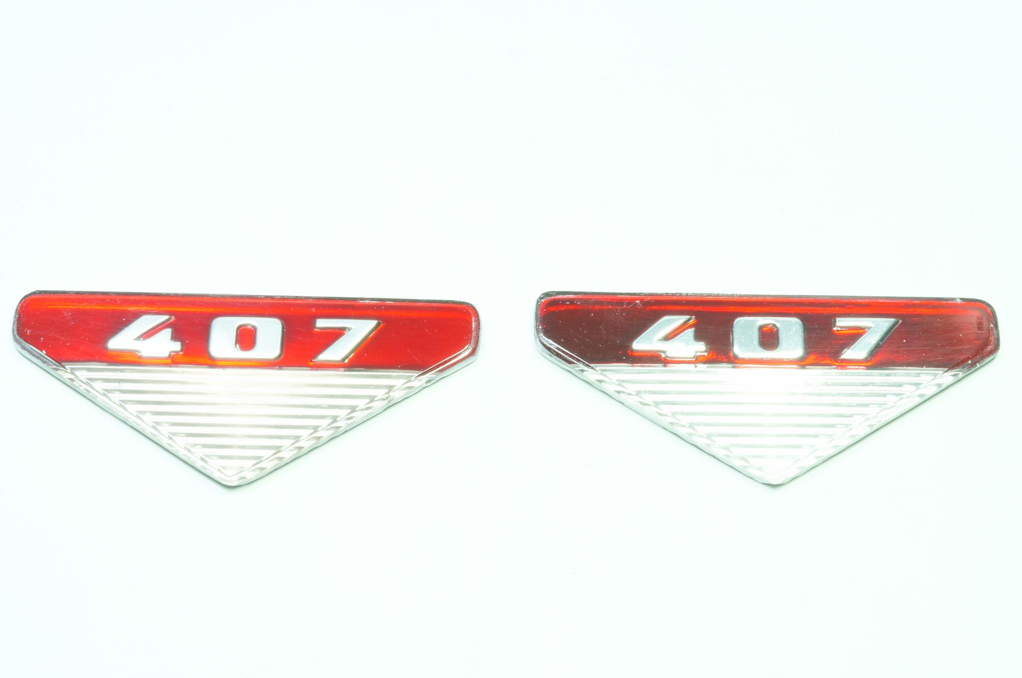 Вставка эмблемы на крыло Москвич 407