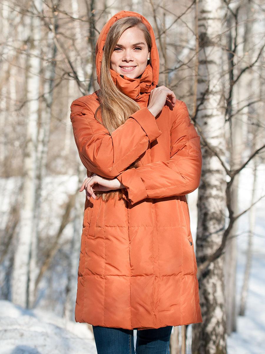 Joutsen пуховик Alison жженый апельсин - Фото 1