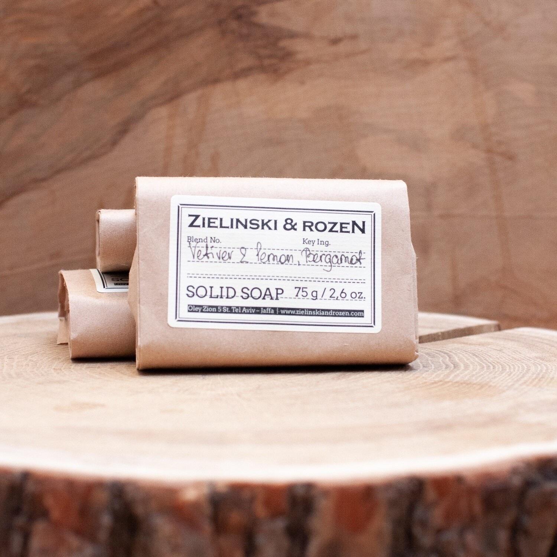 Твёрдое мыло Vetiver Lemon Bergamot ZIELINSKI & ROZEN (75гр)