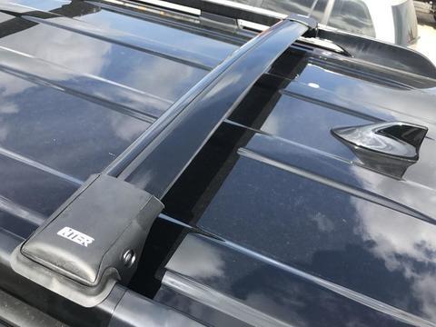 Багажные поперечины INTER Aerostar враспор рейлингов черные R 44-B