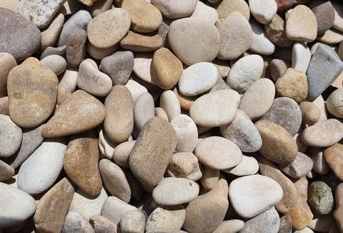 Камень Галька светлая каспийская №2