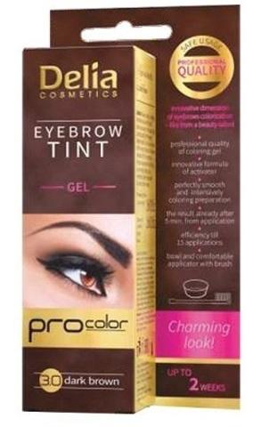 Delia Cosmetics Гель-краска для бровей тон 3.0 темно-коричневый
