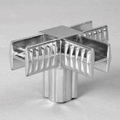 PRIMO 2 Cоединитель 4-х плечий хром 20х20мм