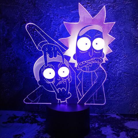 Светильник Рик и Морти