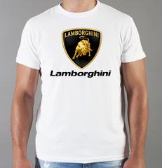 Футболка с принтом Ламборджини, Ламборгини (Lamborghini) белая 0019