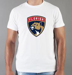 Футболка с принтом НХЛ Флорида Пантерз (NHL Florida Panthers) белая 001