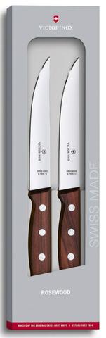 Набор ножей Victorinox Wood, стальной лезв.140мм дерево, подар.коробка