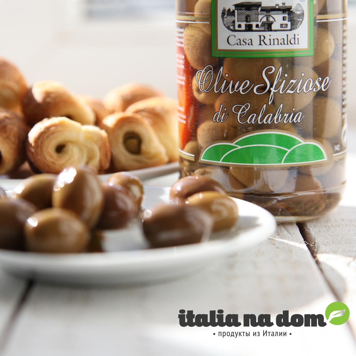 Оливки Casa Rinaldi Калабрия консервированные с косточкой 300г