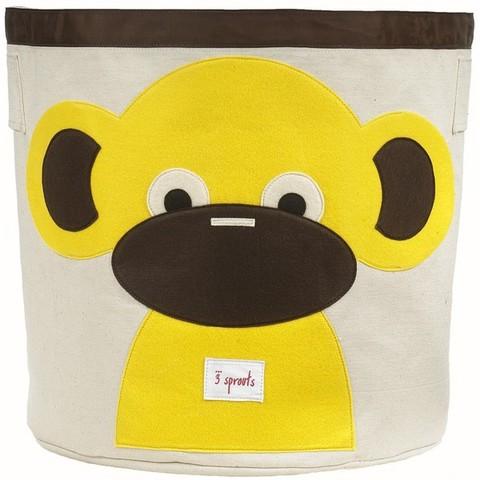Корзина для хранения 3 Sprouts Обезьянка жёлтая (Yellow Monkey SPR206) 67541