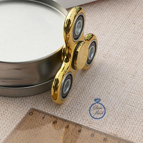Спиннер классический из пластика с утяжелителями подшипниками золотого цвета 17002P_gold