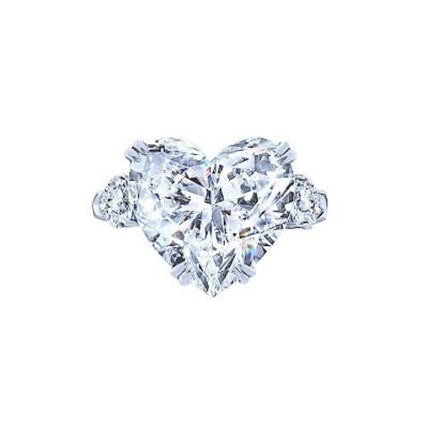 Кольцо из серебра с цирконом в форме сердца в стиле KoJewelry 4882