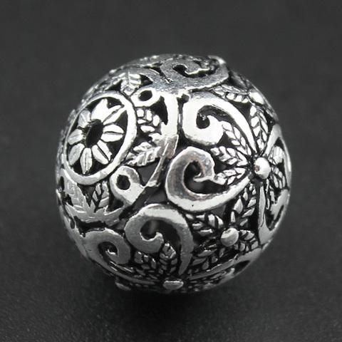 Бусина Оазис 17,5х18,5 мм серебро 925
