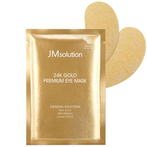 Омолаживающие Патчи Для Век С Золотом JM SOLUTION 24K Gold Premium Eye Mask