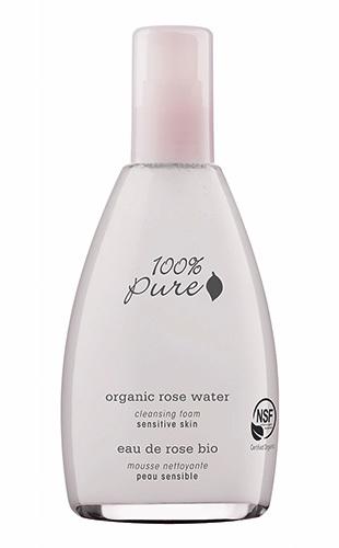 Органическая пенка для умывания «Розовая вода», 100% Pure