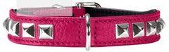Ошейник для собак Hunter Rocky petit 24 (17-21 см) кожа розовый