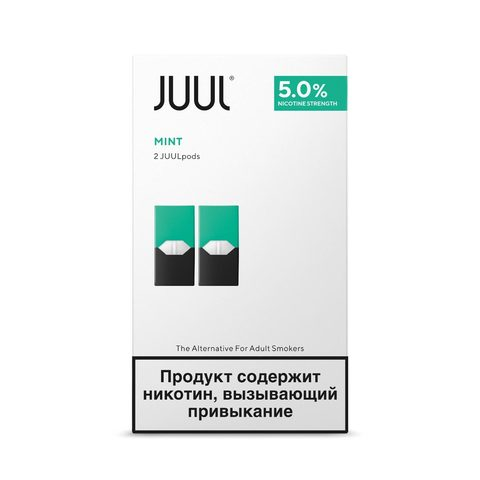 Сменный Картридж для JUUL. ДЖУЛ Мята х2, 0,7 мл 50 мг