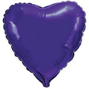 Фольгированный шар Сердце VIOLET 18
