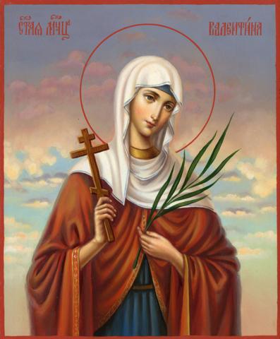 Икона святая Алевтина (Валентина) на дереве на левкасе мастерская Иконный Дом