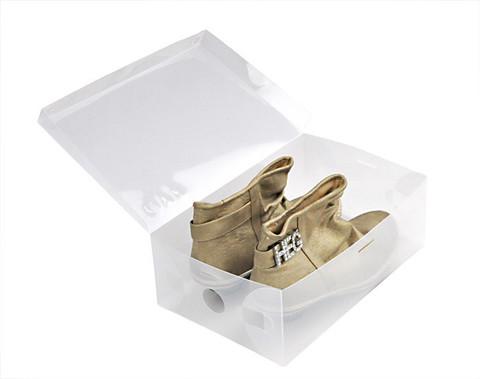 33*20*12 см пластиковая прозрачная коробка для мужской обуви до 48 размера с откидной крышкой