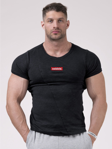Футболка NEBBIA Red Label Muscle Back T-shirt 172 BLACK