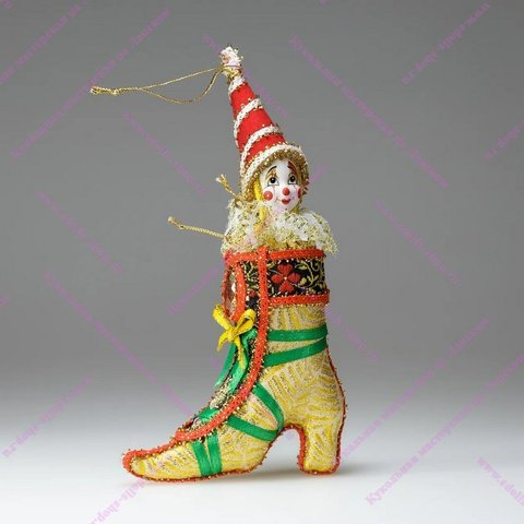 Гном-башмак- елочная игрушка