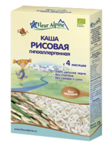 Каша Fleur Alpine Organic рисовая гипоаллергенная безмолочная