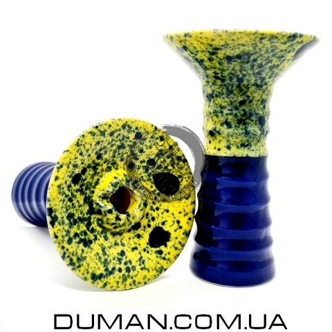 Чаша GrynBowls для кальяна |Small Alien Dark Blue-Yellow