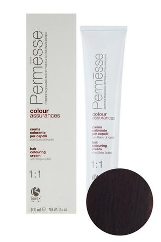 Крем-краска для волос 5.6 Светлый каштан красный Permesse, Barex