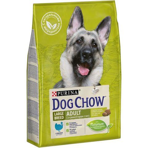 Purina Dog Chow сухой корм для взрослых собак крупных пород (индейка) 2,5 кг