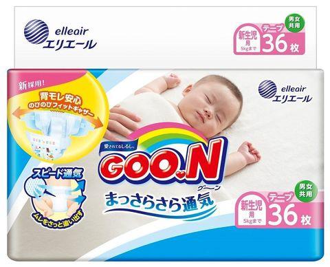 GOON. Подгузники для новорожденных NB 0-5 кг, 1уп/36 шт
