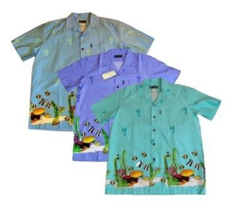 Рубашки муж. рыбки M(46)