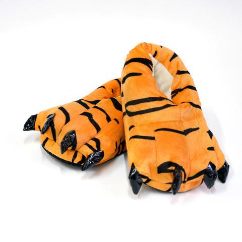 Тапочки царапки тигра детские