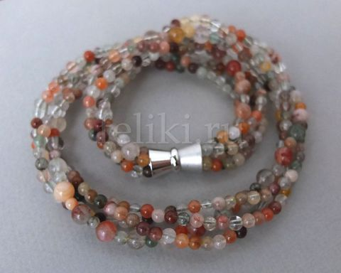 многорядное ожерелье из кварца_фото
