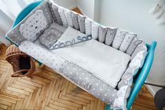 Комплект постельного белья для новорождённых Мишка 9-03 Для мальчиков Серый