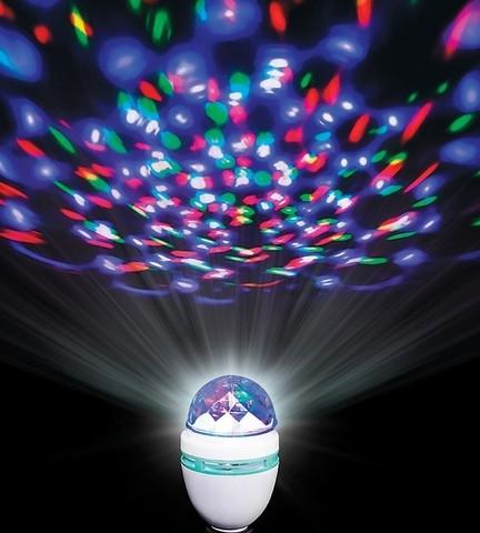 Светодиодная вращающаяся диско лампа Led