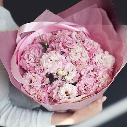 Розовая эустома букет 15шт купить в Перми