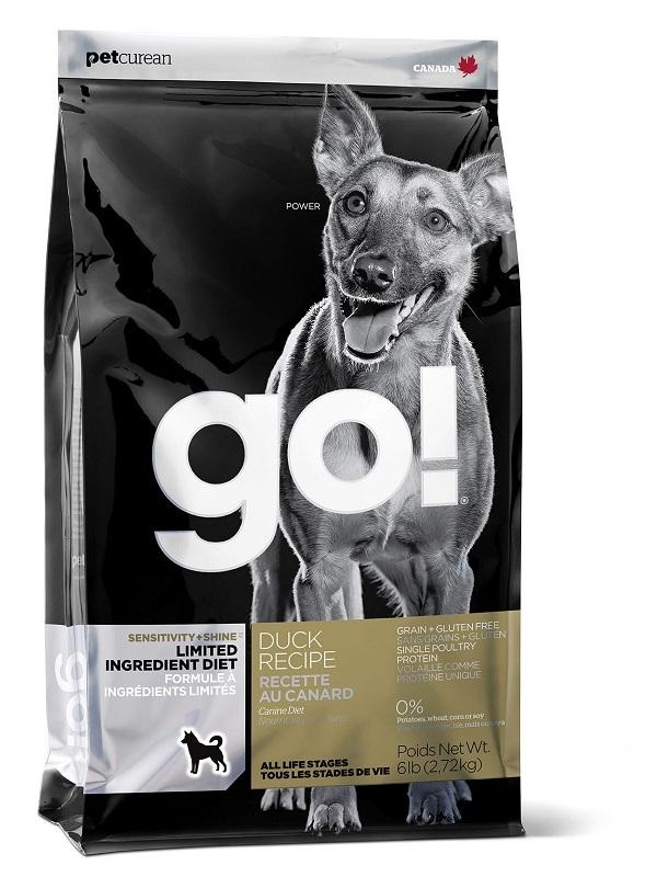 Сухой корм Корм для щенков и взрослых собак, GO! SENSITIVITY + SHINE LID Duck Dog Recipe, Grain Free, Potato Free, беззерновой, с цельной уткой для чувствительного пищеварения 10351.jpg