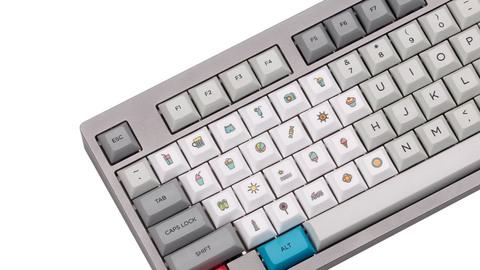 Клавиши DSA Novelty Keycaps White