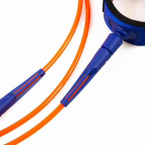 FCS 8' All Round Essential Leash Charcoal/Blood Orange