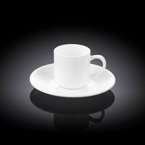 Чашка кофейная + блюдце 90 мл Wilmax (WL-993007/AB)